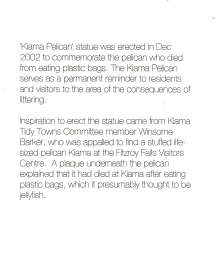 Pelican statue story