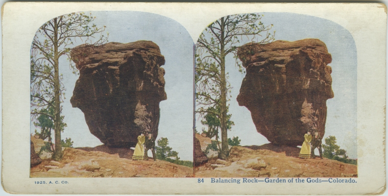 Balancing Rock, Garden of the Gods, Colorado, 1925