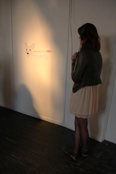 Deer with arrow audio and listener