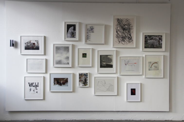 25yrs Flax show in GT Nov 2014 drawings wall