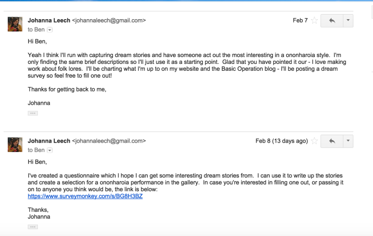 Screen Shot Johanna and Ben K emails 2